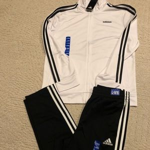 Adidas set jacket and pants size L 14/16